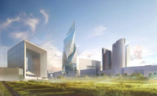 Perspective de concours - Studio Libeskind - Architectes - Tour Signal à Paris