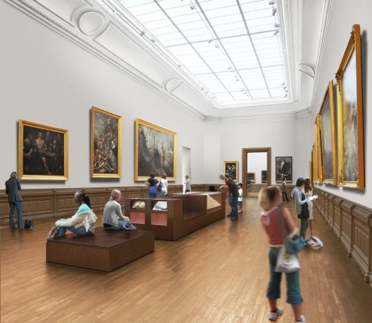Perspective de concours - Atelier BARANI - Architecte - Musée à Nantes