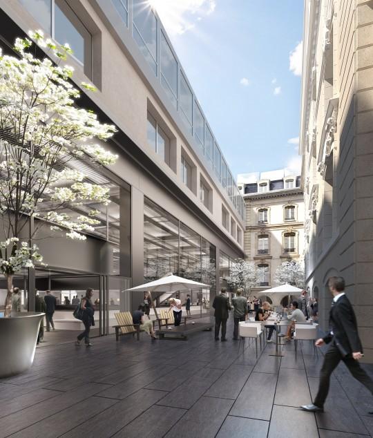 Perspective de concours - ATELIERS LION ASSOCIES - Architectes - Caisse des dépôts et consignation à Paris