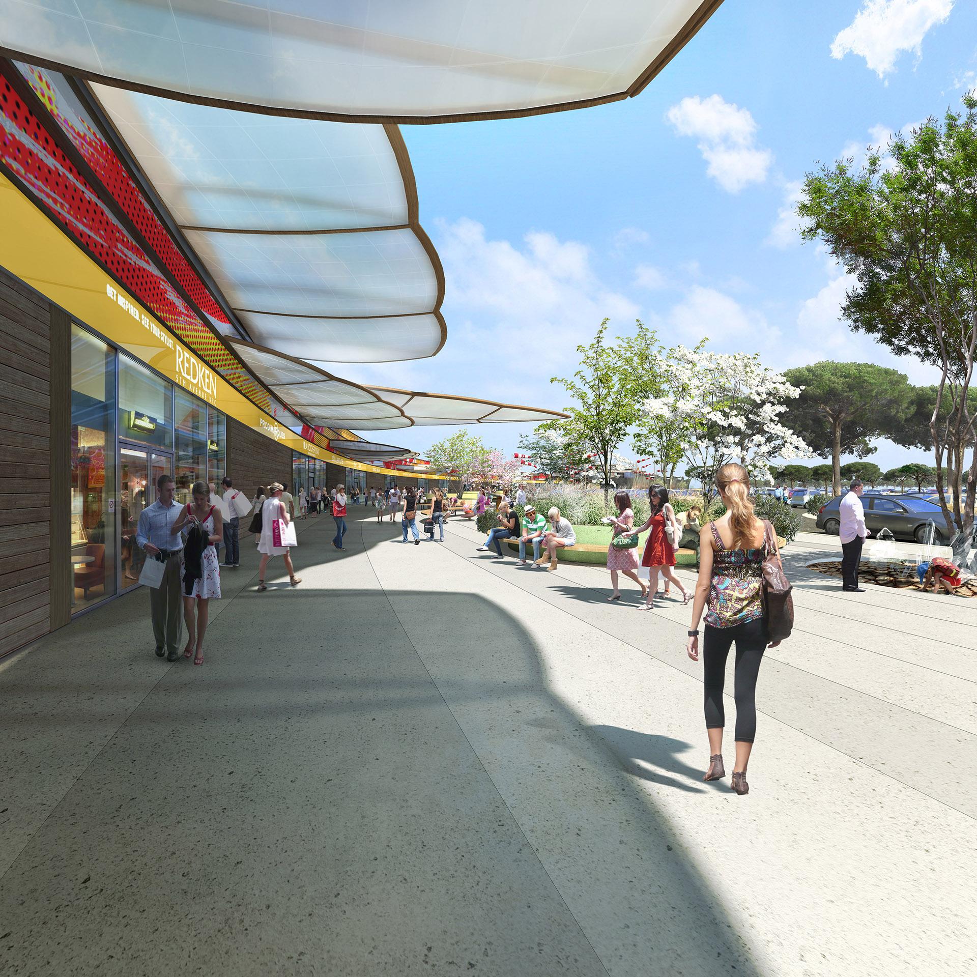 Image de communication - DGLA Architecture Urbanisme Design - Centre commercial Claira à Perpignan