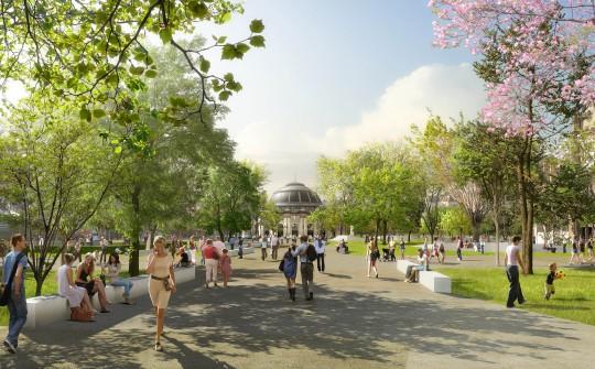 Perspective de concours - SEURA ARCHITECTES ET URBANISTES - Projet des Halles à Paris