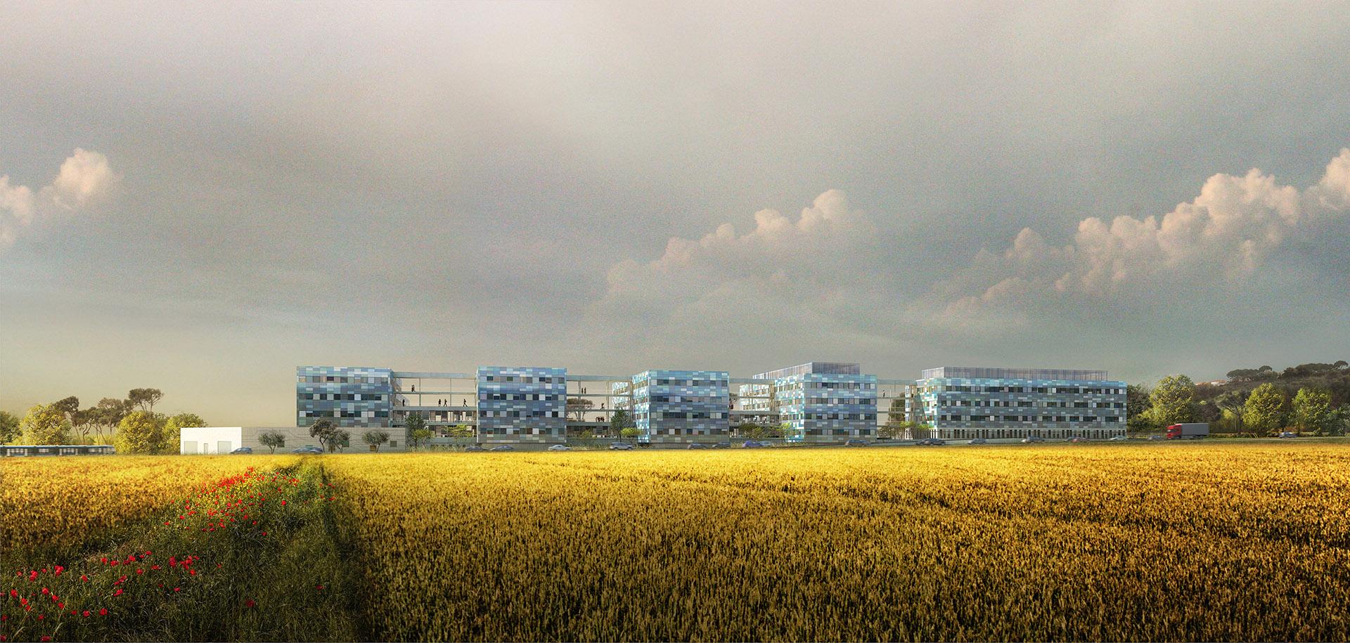 Perspective de concours - CARTA Associés - Architectes - DCNS à Toulon