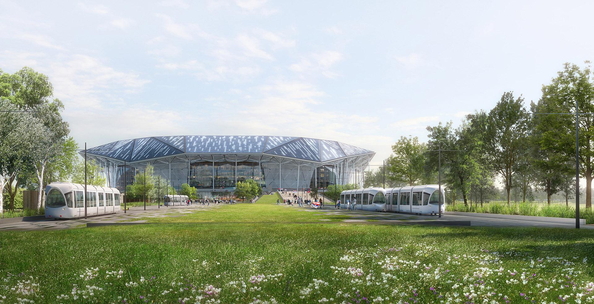 Perspective de concours - Buffi Associés - Architectes - Stade OL Olympique Lyonnais