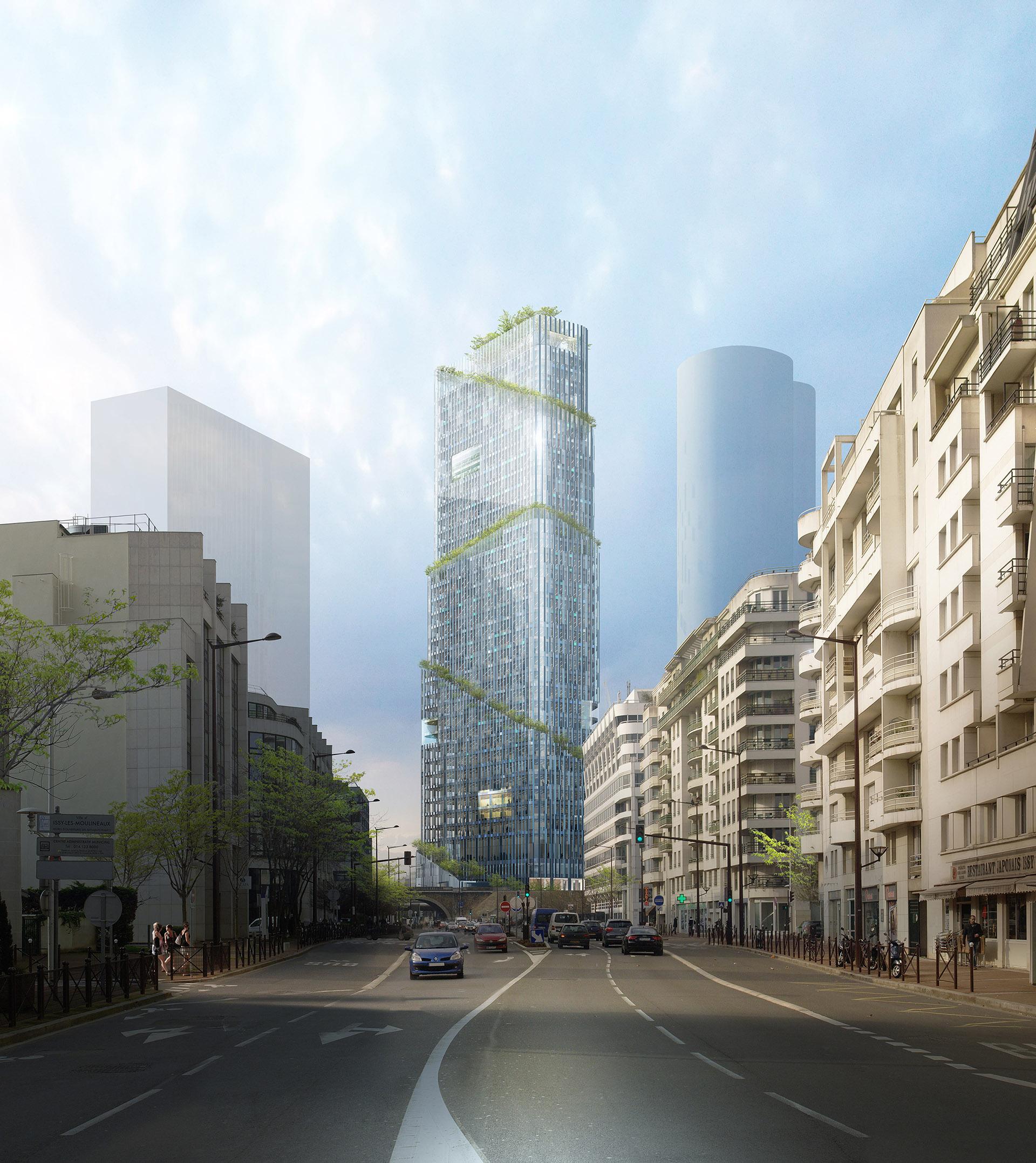 Perspective immobilière - PIETRIArchitectes-Tour Issy-les-Moulineaux