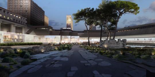 Perspective de concours - CARTA et associés - Architectes - Musée d'Histoire à Marseille