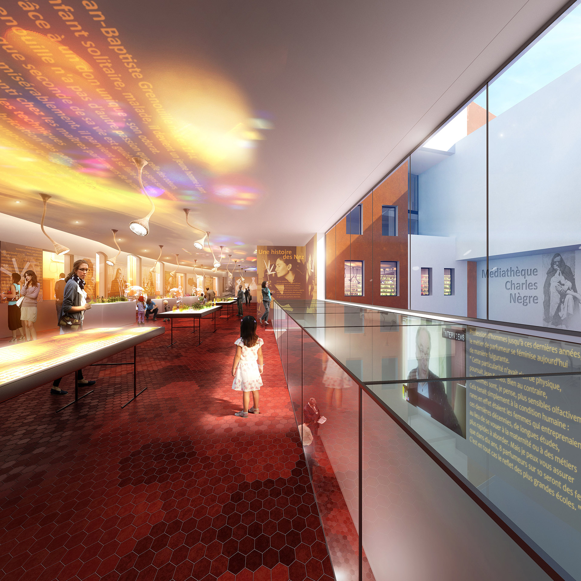 Perspective de concours - Agence VEZZONI & Associés - Architectes - Médiathèque à Grasse