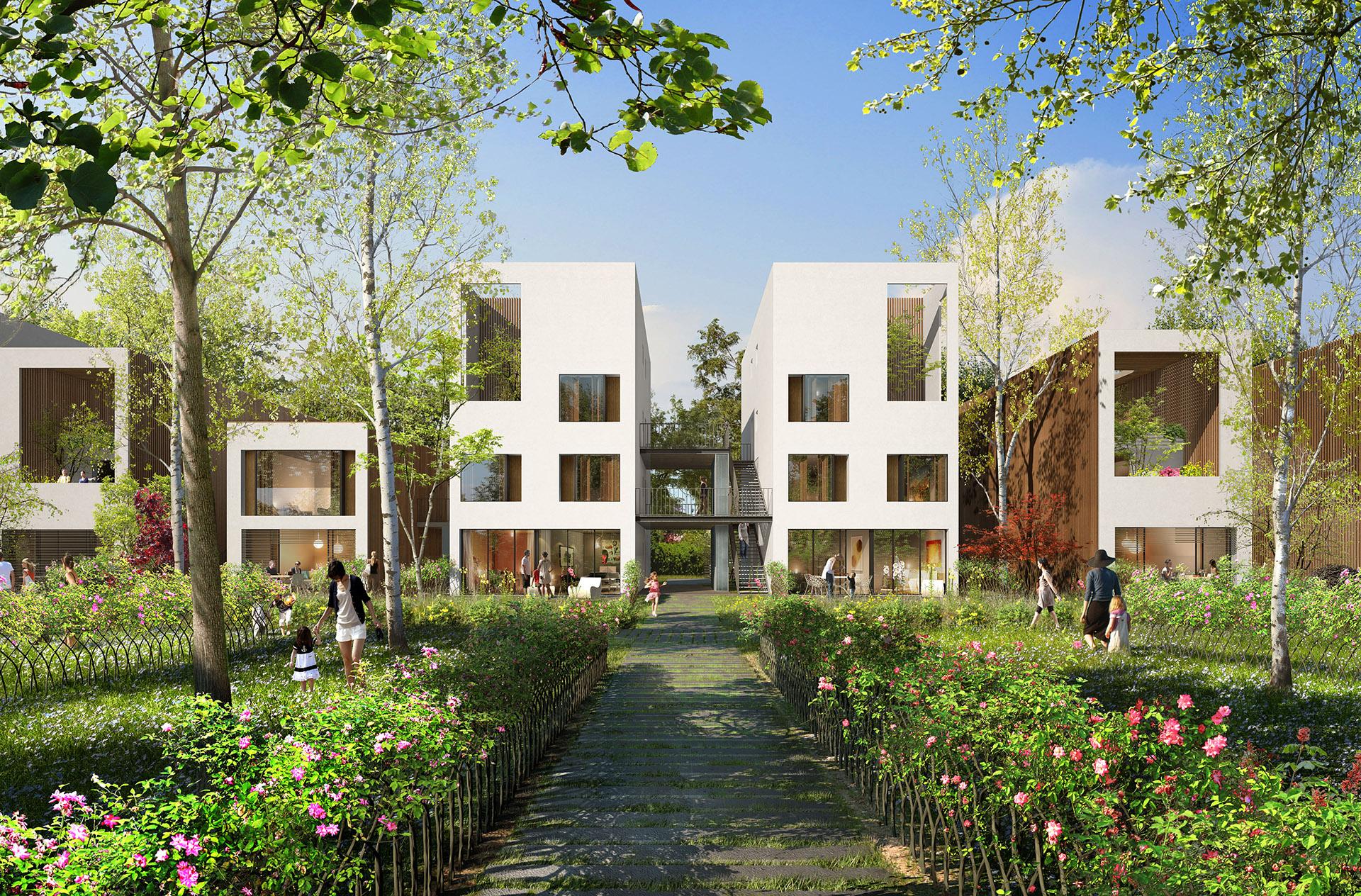 Perspective immobilière - GAUTIER+CONQUET Architectes - Logements au Creusot
