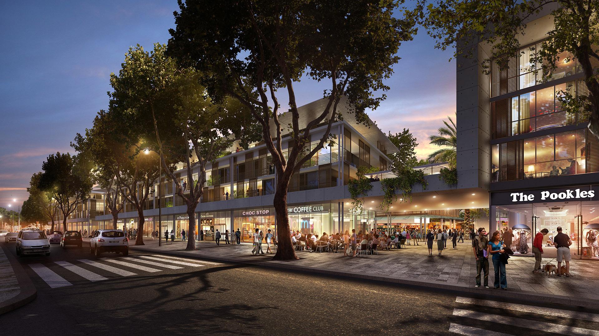 Perspective de concours - RTA Architectes - Hôpital Font Pré à Toulon