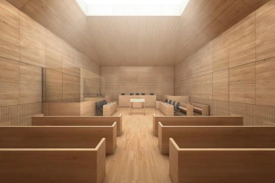 Perspective de concours - BRUNET SAUNIER Architectes - Palais de justice à Caen