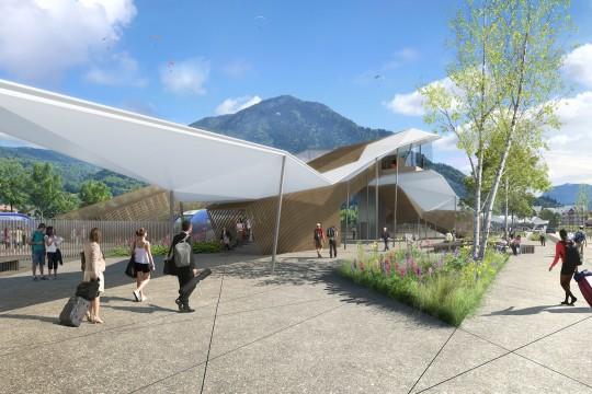 Perspective de concours - GAUTIER+CONQUET - Architectes - Gare de Cluses