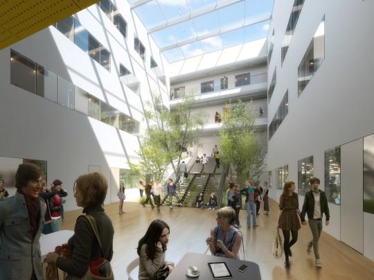 Perspective de concours - BRUNET SAUNIER Architectes - GreEn-ER Université de Grenoble
