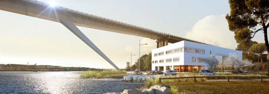 Perspective de concours - Agence VEZZONI & Associés - Architectes - Palais de justice à Martigues