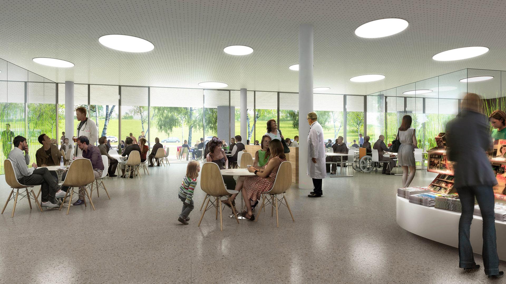 Perspective de concours - Brunet Saunier Architectes - Hôpital à Zurich