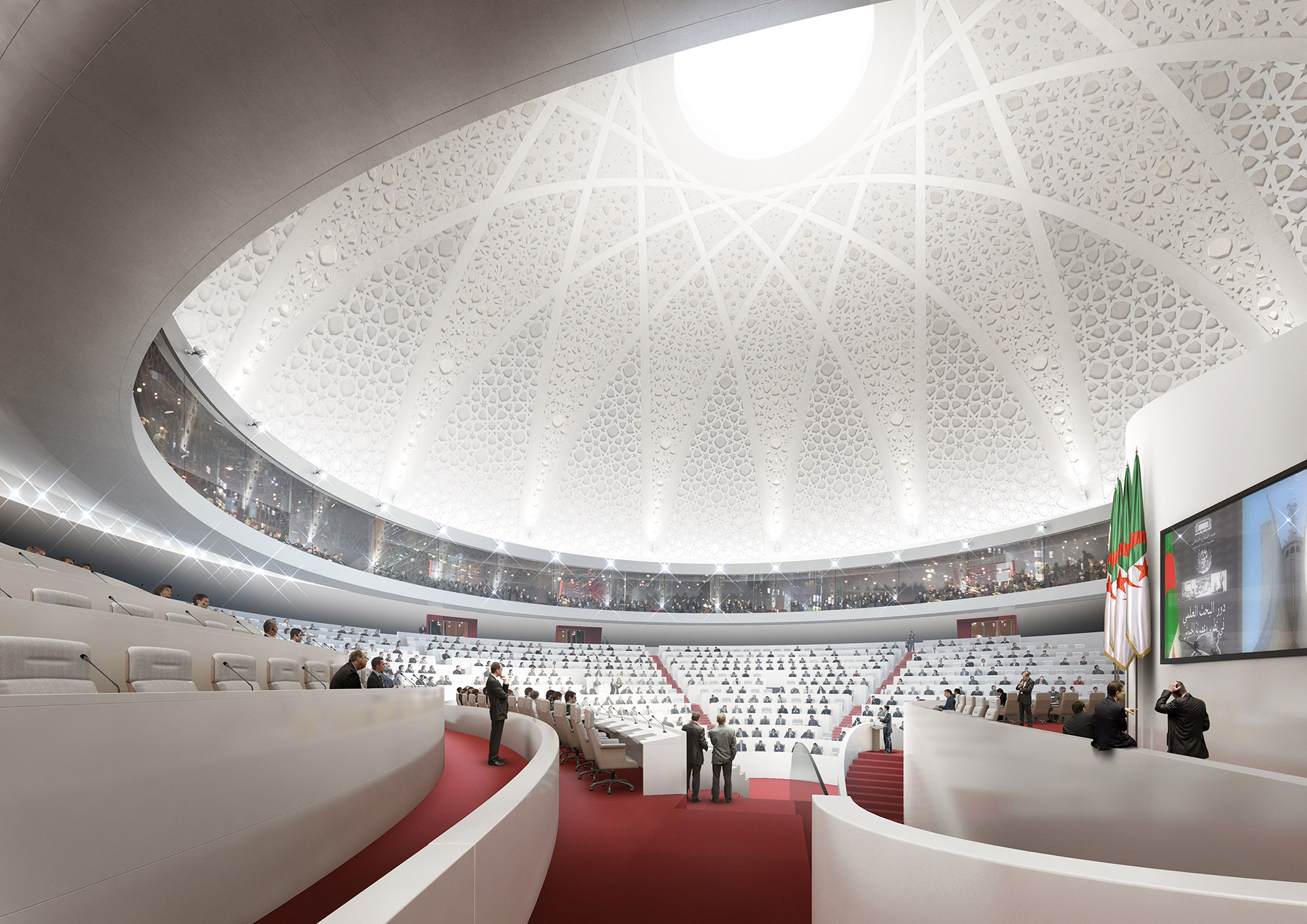 Image de communication - BAM - Architectes - Parlement en Algérie