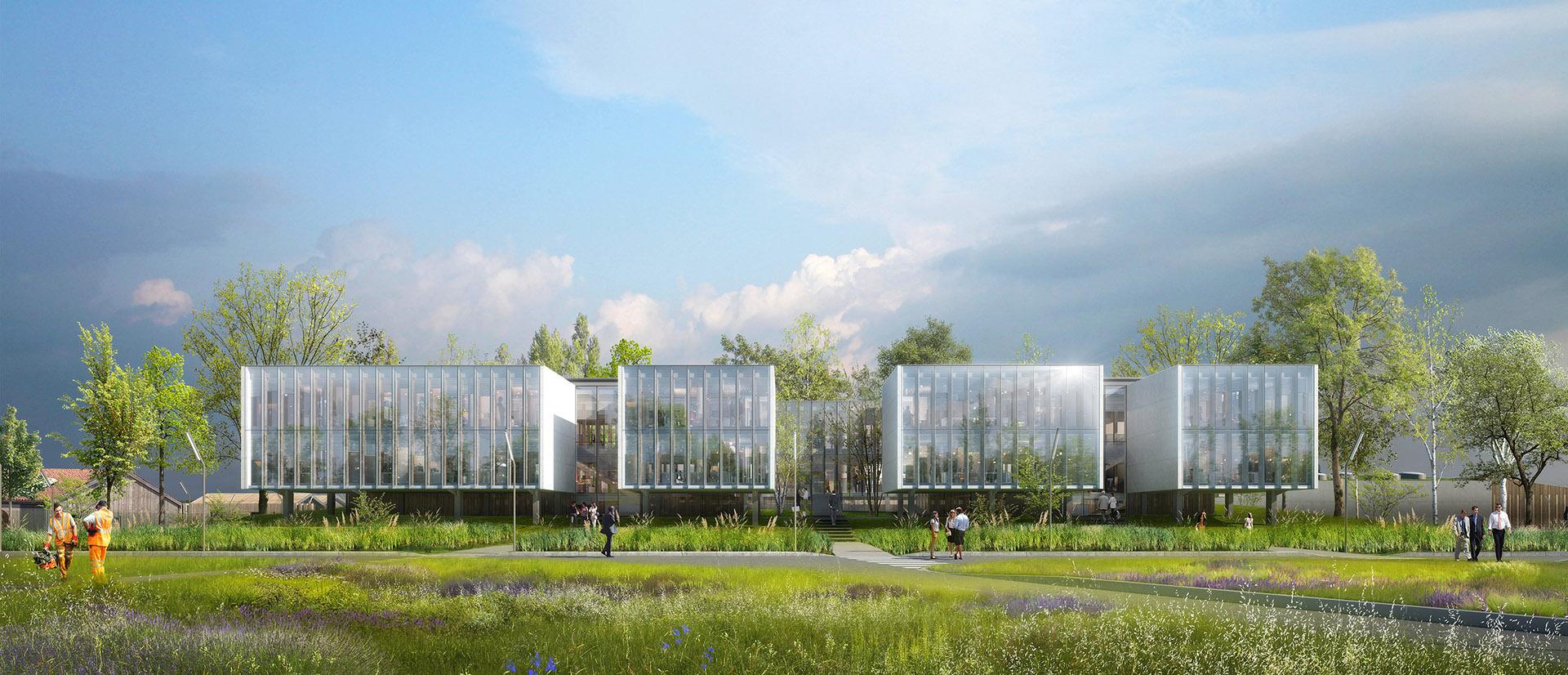 Perspective de concours - GAUTIER & CONQUET - Architectes - Laboratoire de l'ANDRA à Bure