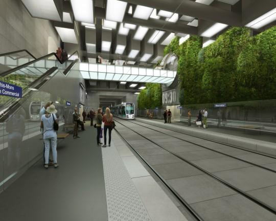 Perspective de concours - GAUTIER & CONQUET - Architectes - Prolongement Tramway T7 à Paris