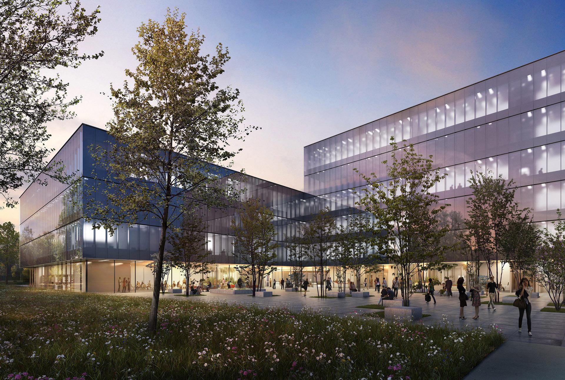 Perspective de concours - NICKL ARCHITEKTEN - Architectes - Université Munster en Allemagne