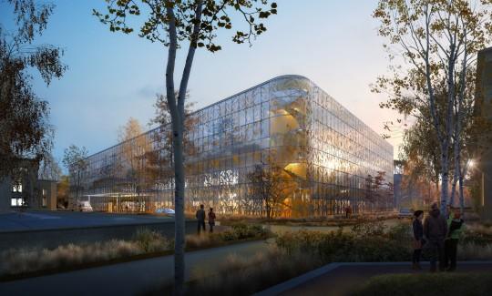 Perspective de concours - BRUNET SAUNIER Architecture - Les Hospices à Lyon