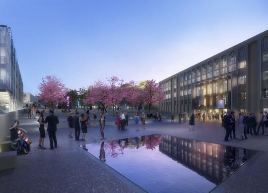 Perspective de concours - CARTA et associés - Architectes - Campus à Aix-en-Provence