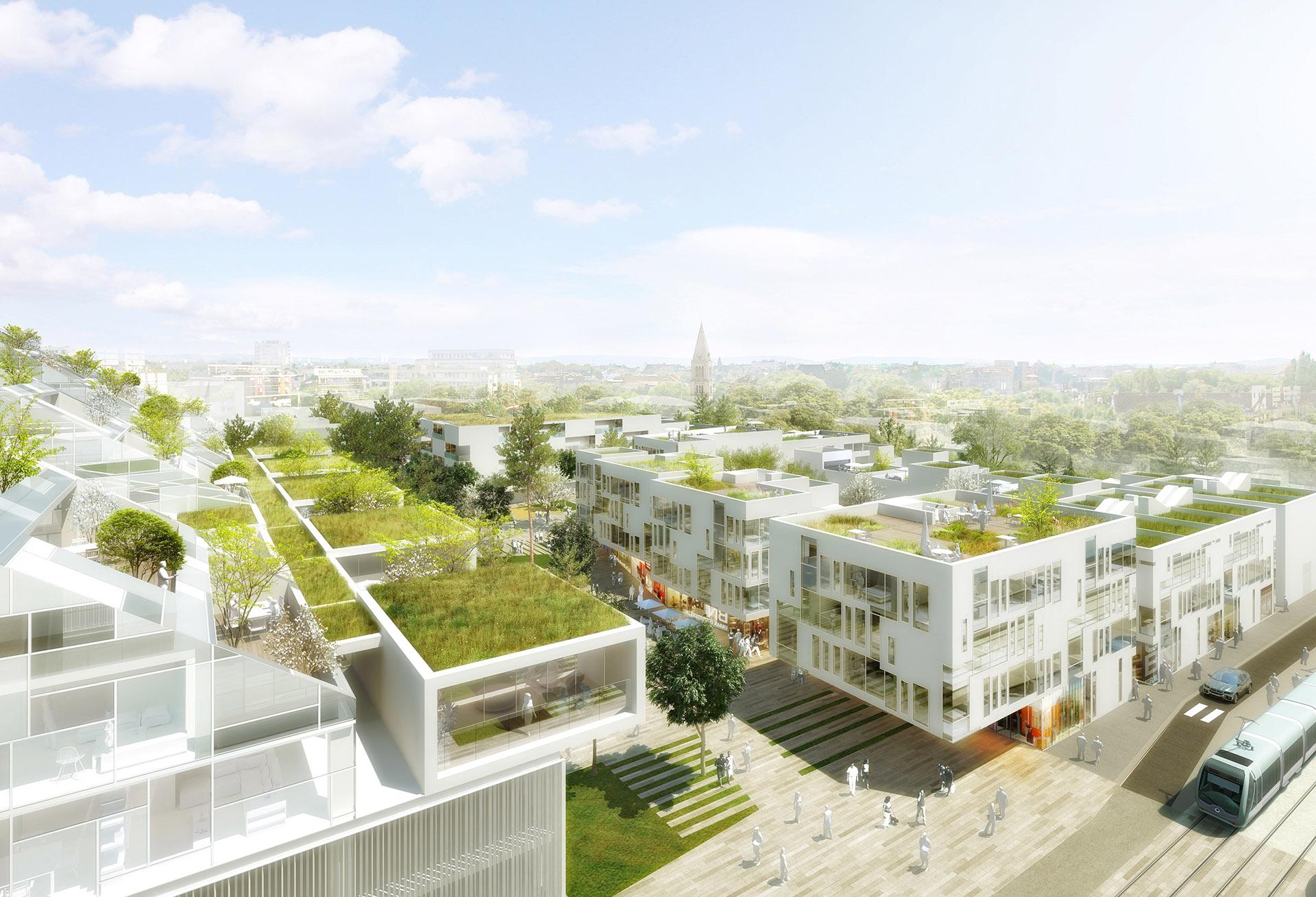 Perspective immoblière - REICHEN et ROBERT & Associés Architectes Urbanistes - Logements à Bordeaux