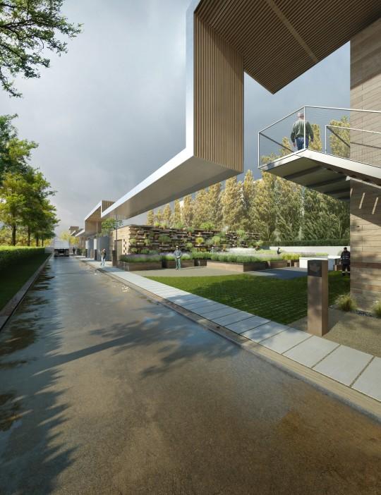 Perspective immobilière - GAUTIER & CONQUET - Architectes - Bâtiment à Nanterre
