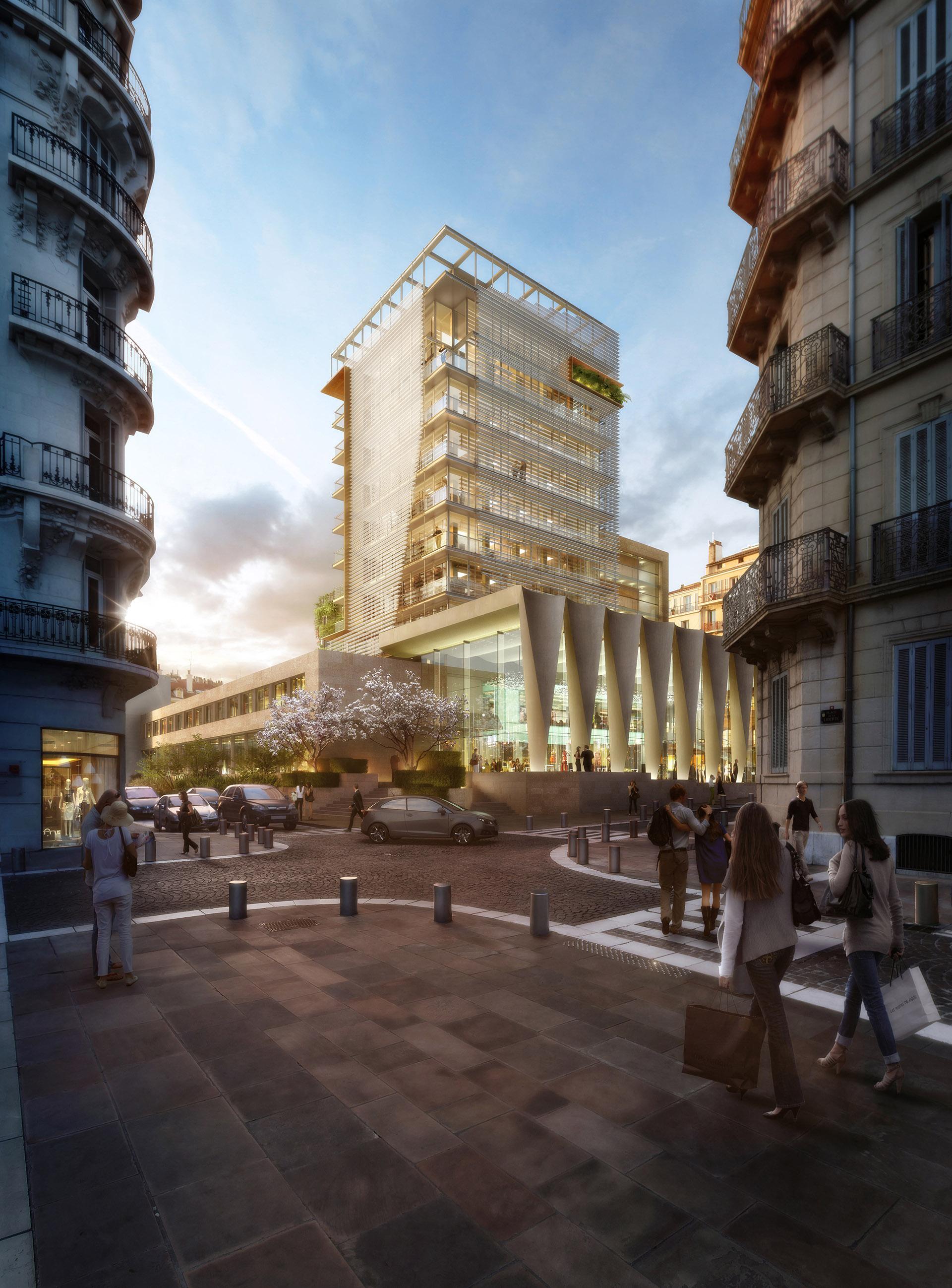 Perspective immobilière - ABB Architectes - Tour TPM à Toulon