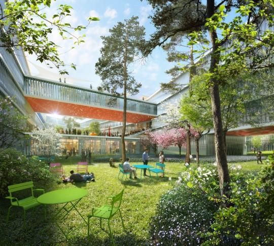 Perspective de concours - BRUNIER SAUNIER Architecture - Institut des Mines à Saclay