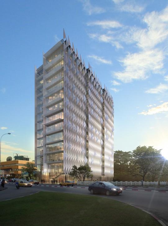 Perspective immobilière - DGLA SUD Architecture Urbanisme Design - Bureaux à Douala au Cameroun