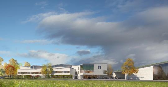 Perspective de concours - MAP - Architectes - Collège Schuman à Lille