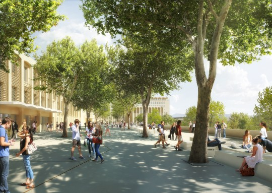 Perspective de concours - CARTA et associés - Architectes - Campus Aix-en-Provence