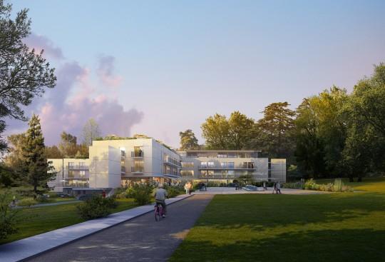 Perspective de concours - MENGEOT & Associés - Architectes - EHPAD à Santeny