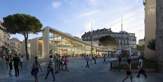 Perspective de concours - MDR Architecture - Halles Laissac à Montpellier