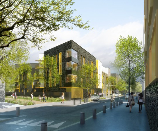 Perspective immobilière - RVA Architectes - Logements à Vigneux