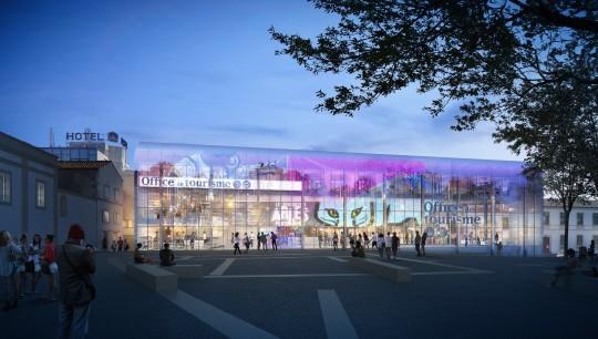 Perspective de concours - Agence VEZZONI & Associés - Architecte - Office de tourisme à Arles