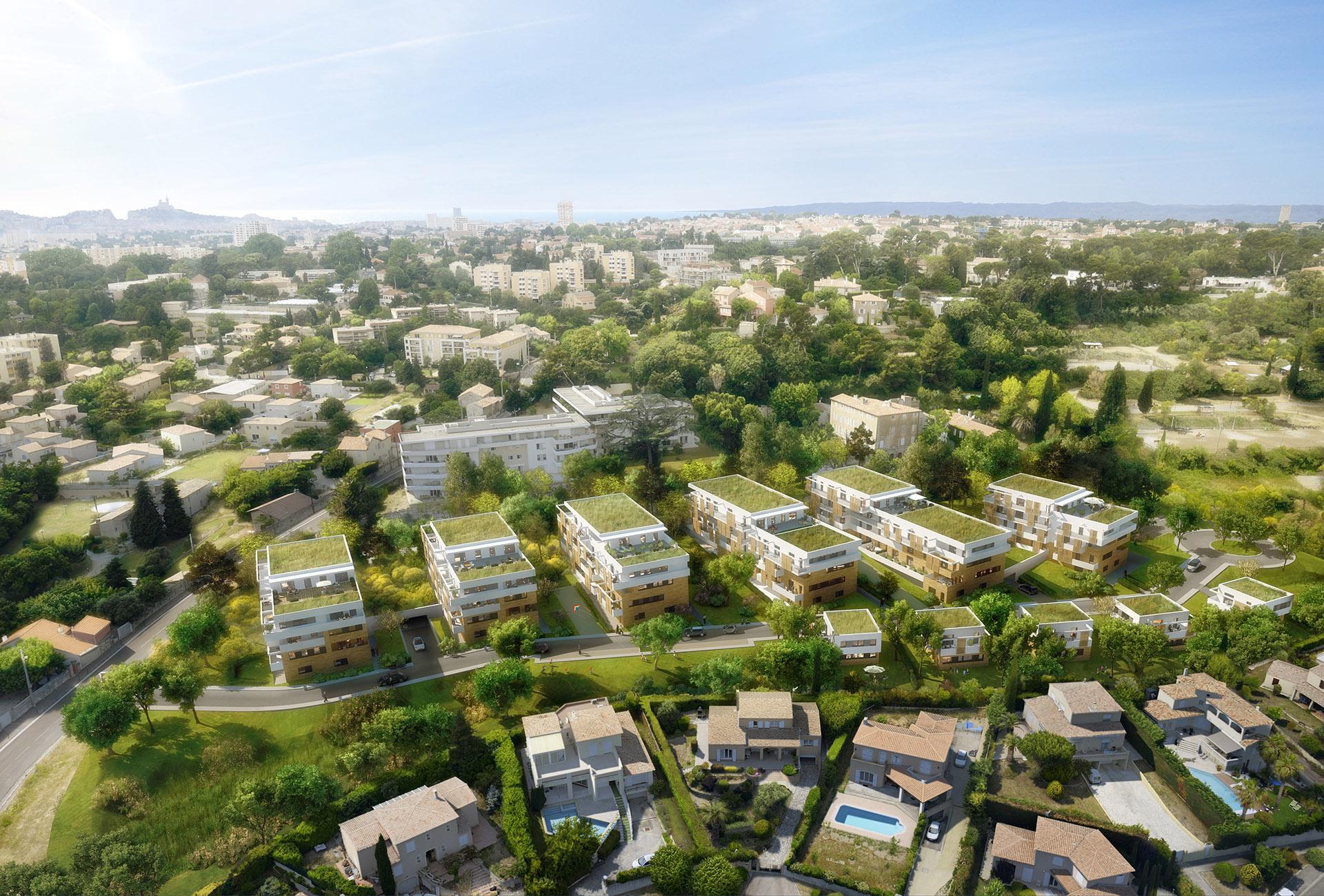 Perspective Immobilière - LES NOUVEAUX CONSTRUCTEURS - Promoteur- Logements Saint-Ange à Marseille
