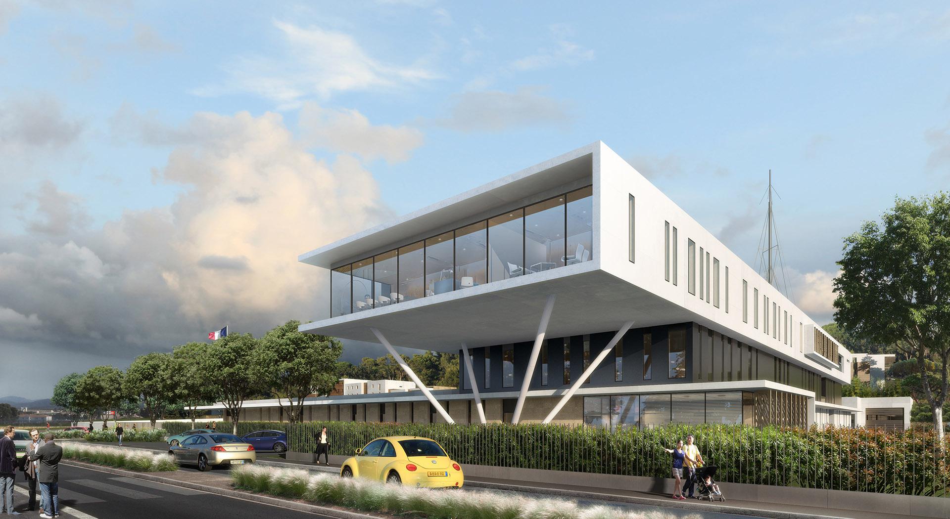 Perspective de concours - ABB Architectes - Gendarmerie La Valette du Var