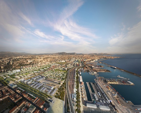 Image de communication - ANMA (Agence Nicolas Michel et Associés) - Architectes - Projet EUROMED2 à Marseille