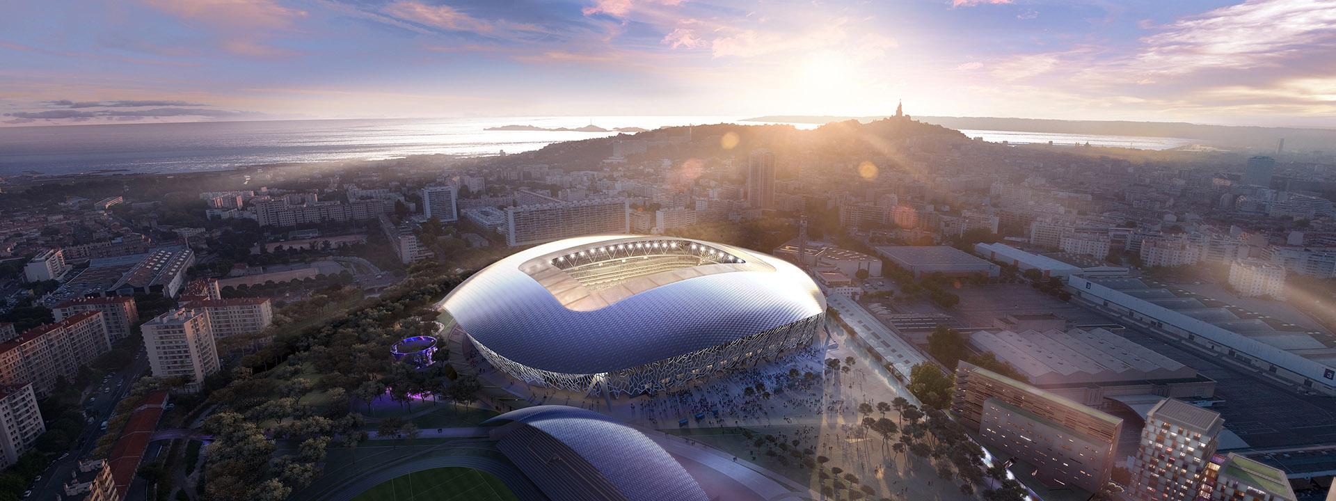 Perspective de concours - CARTA et associés - Stade Vélodrome à Marseille