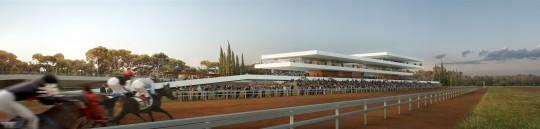 Perspective de concours - Groupe 3 Architectes - Hippodrome au Maroc