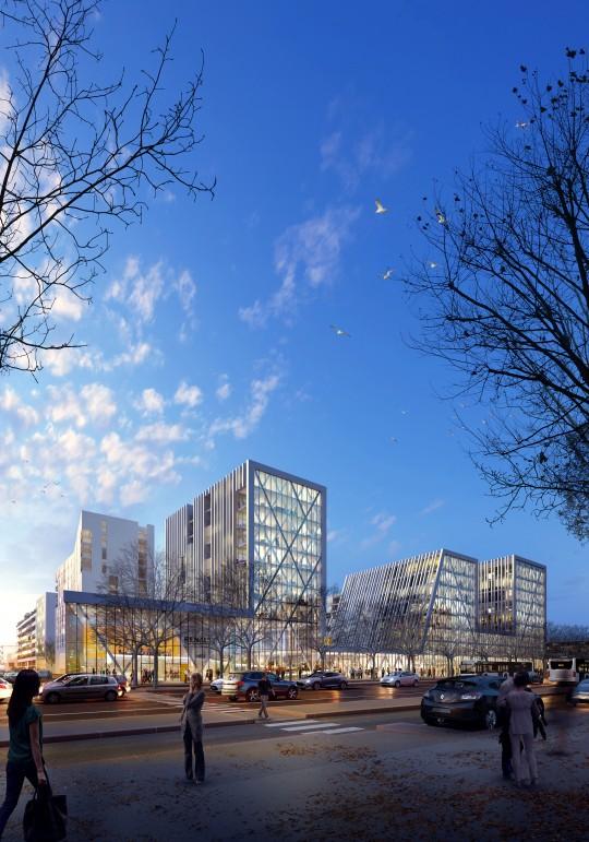 Perspective de concours - Agence Vezzoni & Associés - Architectes - Faisabilité Renault Michet à Marseille