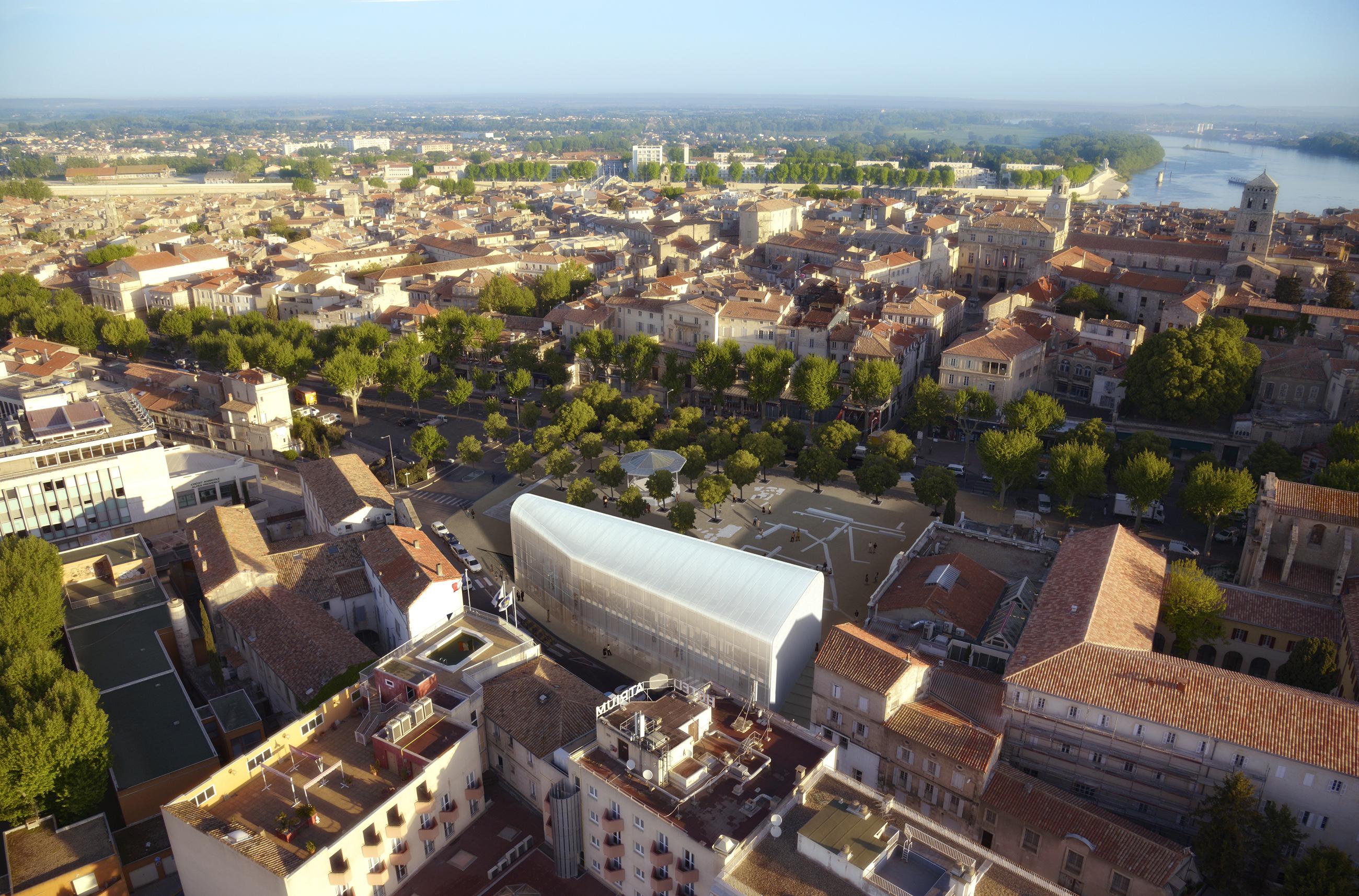 Perspective de concours - Agence VEZZONI & Associés - Office de Tourisme à Arles