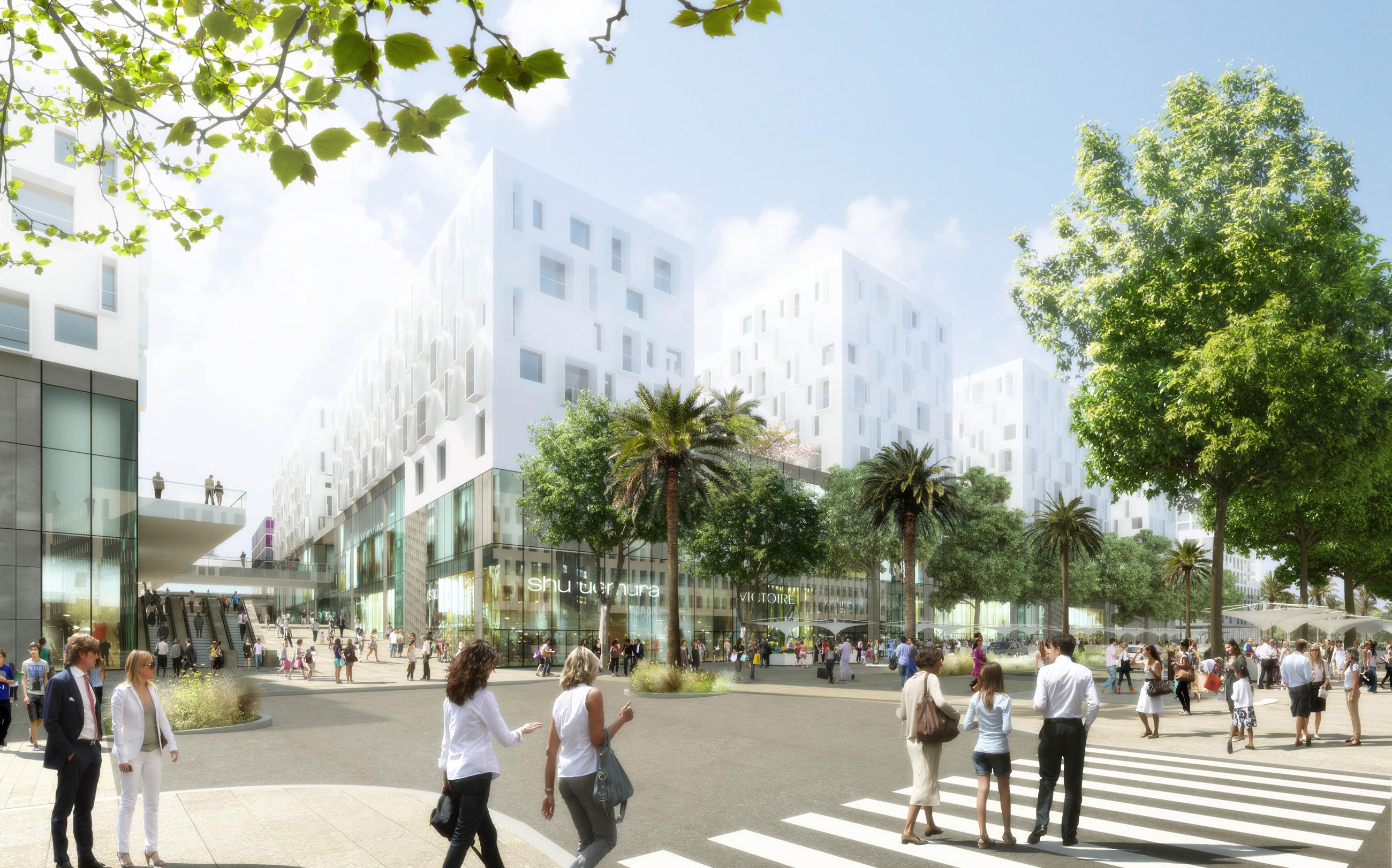 Perspective de concours - WILMOTTE & Associés- Architectes - Programme Mixte Nice Californie