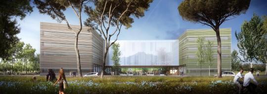 Perspective de concours - BRUNET SAUNIER ARCHITECTURE - Laboratoire Ecotox à Valence