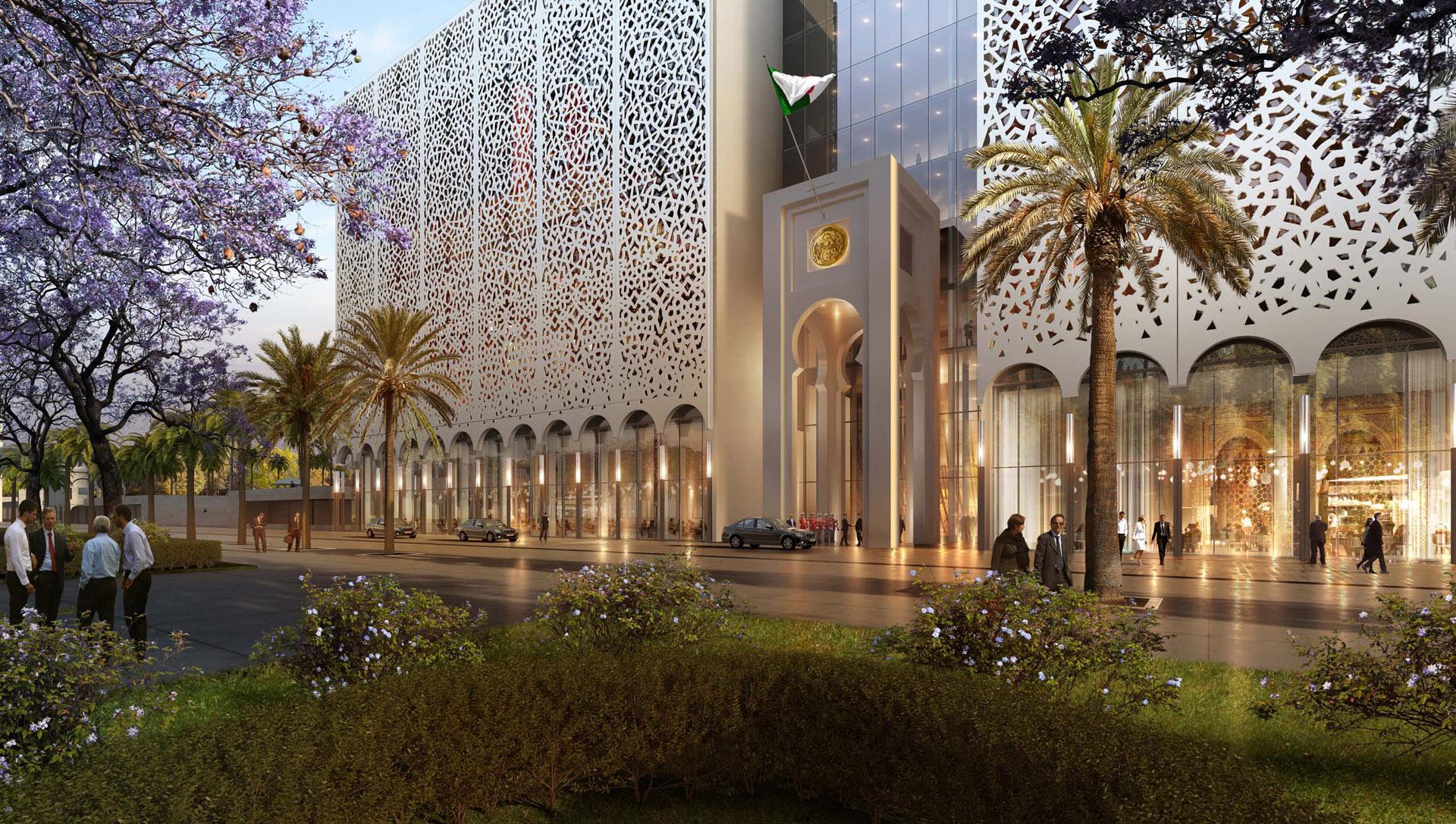 Perspective de concours - BAM (Bureau d'Architecture Méditerranée) - Parlement en Algérie