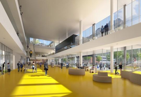Perspective de concours - BRUNET SAUNIER ARCHITECTURE - Green Université à Grenoble