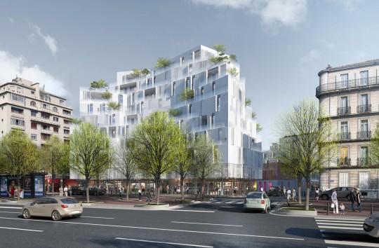 Image immobilière - Atelier 82 - Architectes - Immeuble Bd Louvain à Marseille