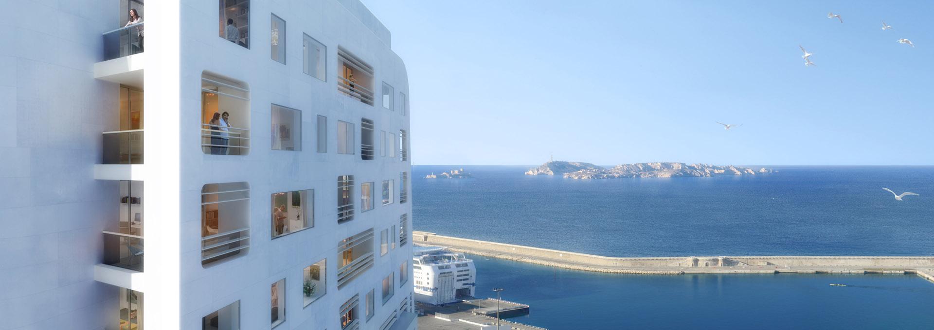Perspective immobilière - CONSTRUCTA - Promoteur - Tour H99 à Marseille