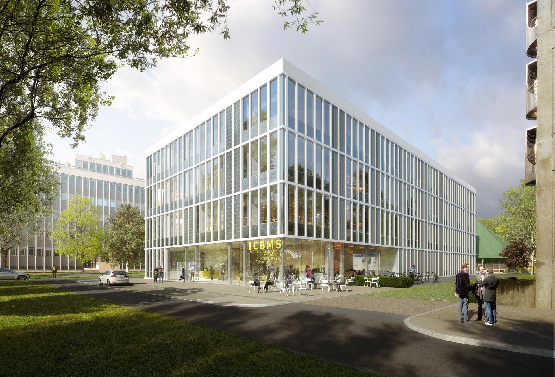 Perspective de concours - NICKL ARCHITEKTEN - Architectes - Laboratoire Lyon Tech à la Doua