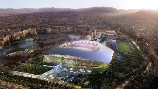 Perspective de Concours - CARTA et associés - Architectes - Projet Stade Vélodrome Marseille