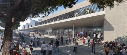 Perspective de concours - Marie-France Chatenet - Collège Maximilien Robespierre à Port Saint-Louis du Rhône
